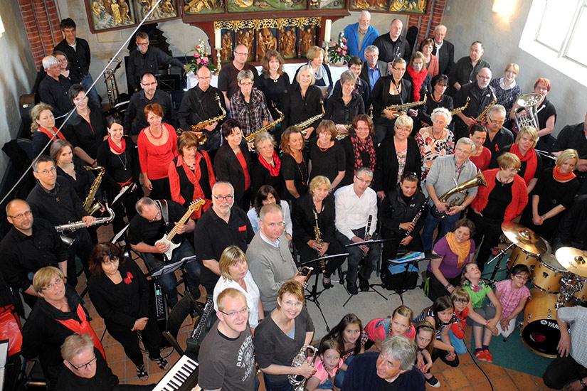 Die Mitwirkenden des Kirchenkonzertes