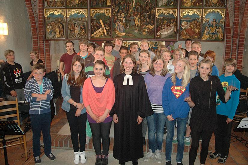 Die Mitwirkenden des besonderen Gottesdienstes