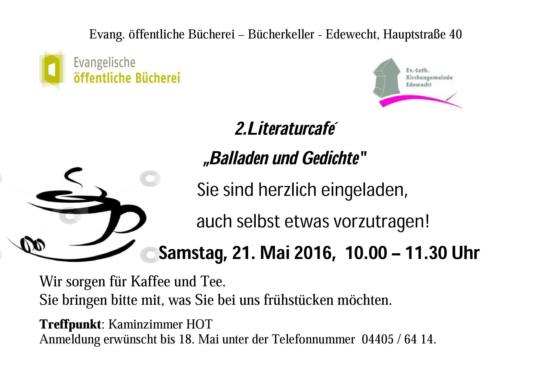 Plakat Literaturcafé