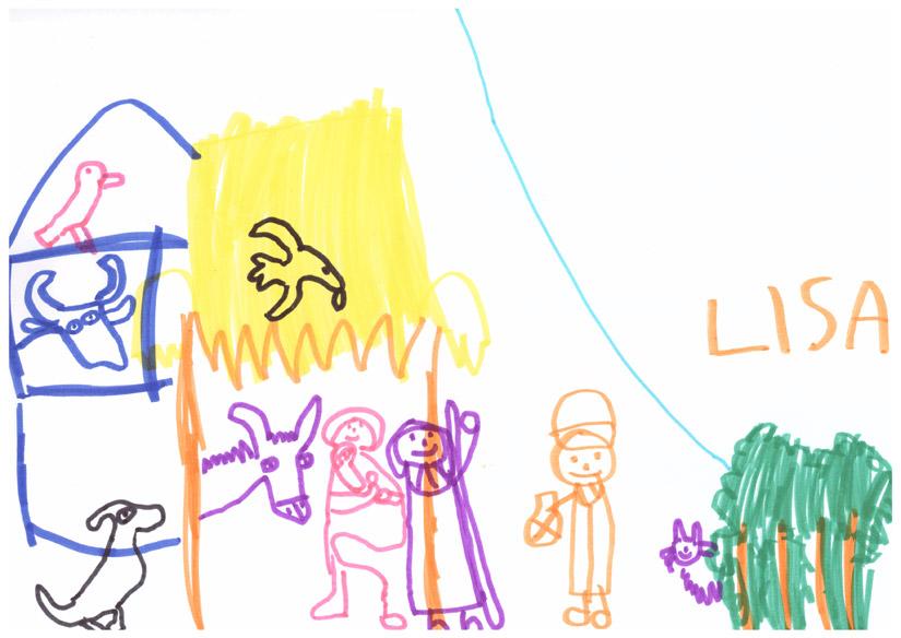 Weihnachtsbild von Lisa