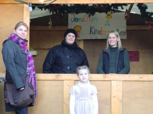 Verkaufsstand des Kindergartens