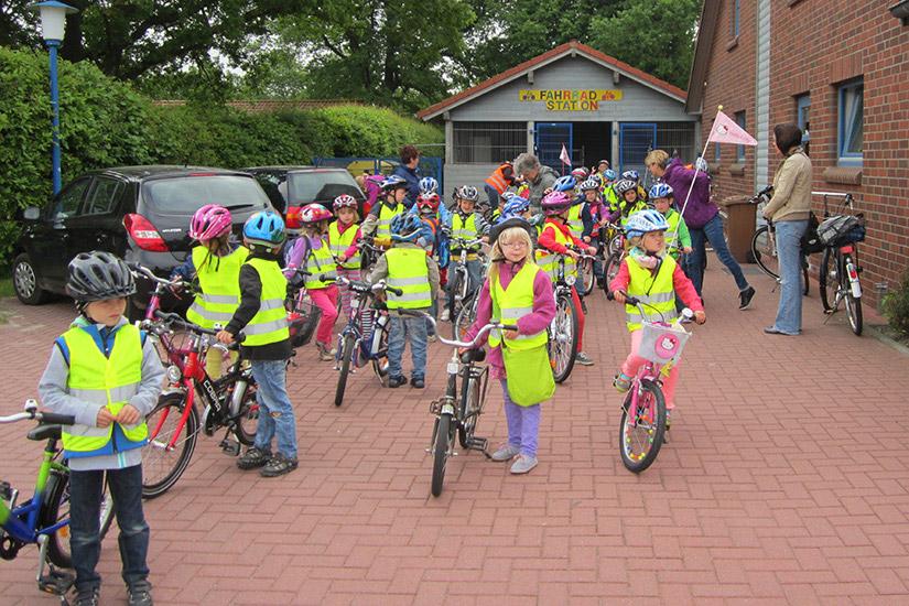 Fahrradprojekt der Nikolai-Kindertagesstätte: Abschlussfahrt