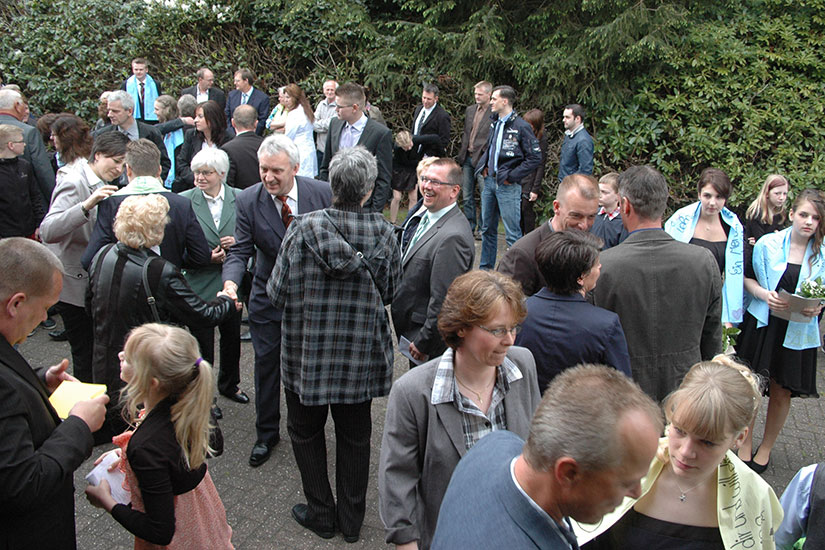 Nach einer Konfirmation in Süddorf