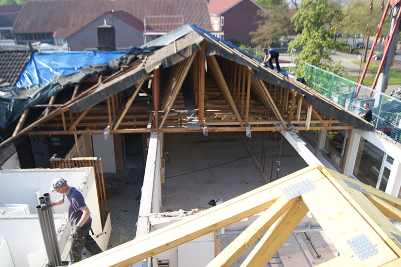 Dachsanierung am Haus der offenen Tür