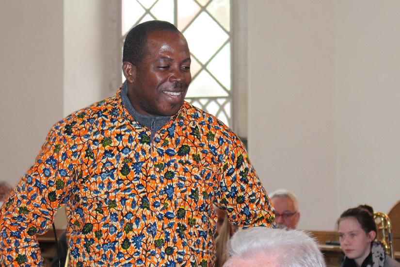 Justice Djamson, Chorleiter aus Accra/Ghana